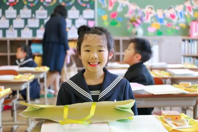小学校に入学した女の子