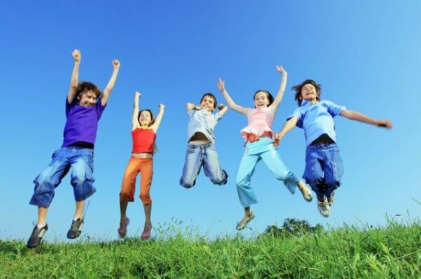 子供のジャンプ